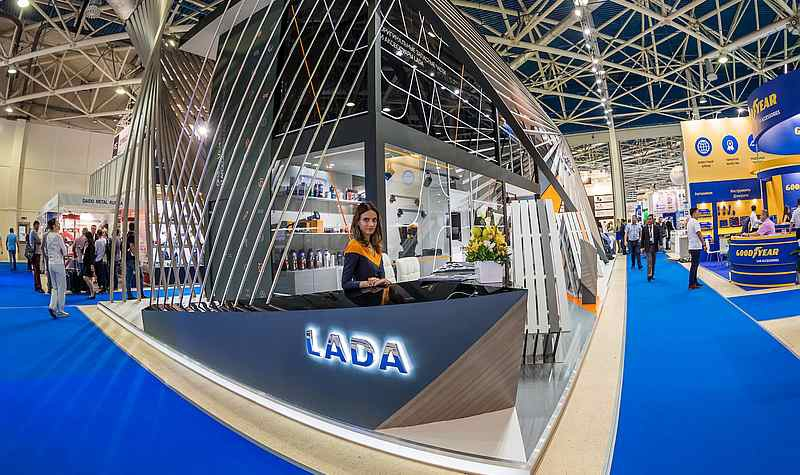 Стенд LADA  на выставке MIMS Automechanika